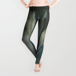 GRUBBY GREY ANTIQUE AGAVE CACTUS PIC Leggings