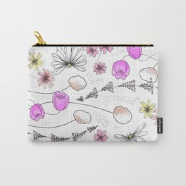 Whimsy Flowers Carry-All Pouch