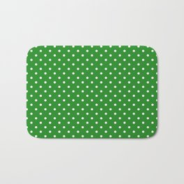 Dots (White/Forest Green) Bath Mat