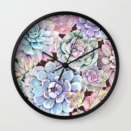 succulent allover Wall Clock