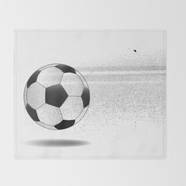 Moving Football Throw Blanket
