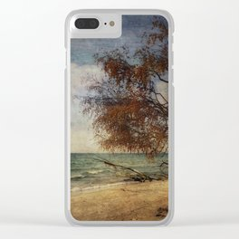 beach whispering Clear iPhone Case