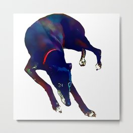 Watercolor Greyhound Metal Print