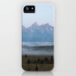 Fog Beneath the Grand Tetons iPhone Case
