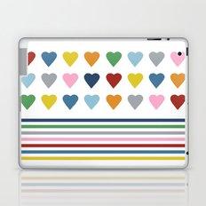 Hearts Stripes Laptop & iPad Skin