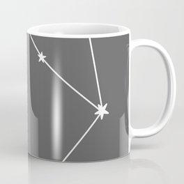 Libra (White & Grey Sign) Coffee Mug