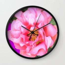 Flower | Flowers | Pink Portulaca Bloom Wall Clock