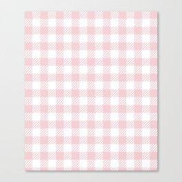 Pink Vichy Canvas Print