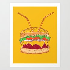 Burger for two Art Print