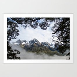 On the Road to Milford Sound Part 2 Art Print