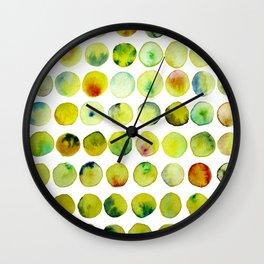 Coloured Yellow Bubble Pattern Wall Clock