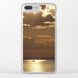Awesome Sea Scene Clear iPhone Case