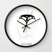 ass Wall Clocks featuring Ass by sausageplayground