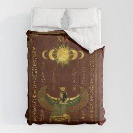 "Tarot ""The Sun"" - Goddess Isis - red version  Comforters"