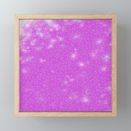 Stardust in Fuchsia  Framed Mini Art Print