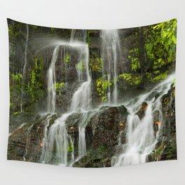 Ho Opi'i Waterfall  Wall Tapestry