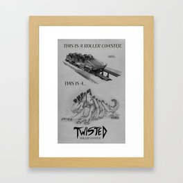 Know Your Coasters Framed Art Print