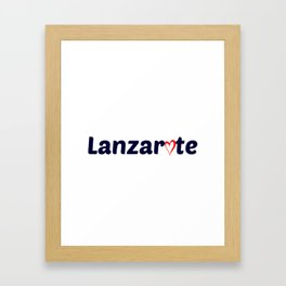Lanzarote Love Framed Art Print
