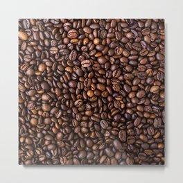 Coffee Bean Scene Metal Print