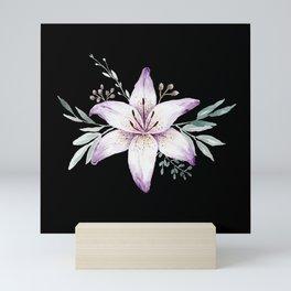 Lilium black Mini Art Print