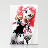 monster high Stationery Cards featuring Monster High  by Jessica Yakamna
