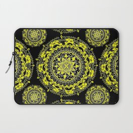 Black and Gold Regal Mandala Textile Laptop Sleeve