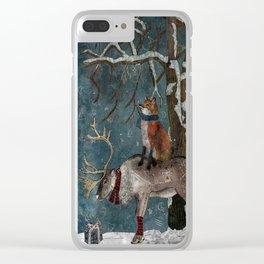 Winter Tale Clear iPhone Case