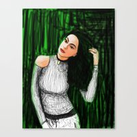 matrix Canvas Prints featuring Matrix by Albert Wint