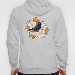 Waiting for the cherries II // Blackbirds brown background Hoody