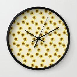 Sunflower yellow pattern Wall Clock