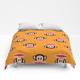 Julius Monkey Pattern by Paul Frank - Orange Comforters