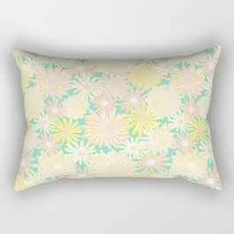 Spring Flowers Pattern Rectangular Pillow