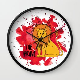The Brave Lion Wall Clock