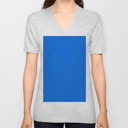 BLUE #9fc54e Unisex V-Neck