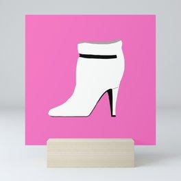 SATC Carrie Bradshaw High Heels Fashion Boot Mini Art Print