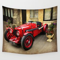 rare Wall Tapestries featuring Rare Aston Martin. by Scenic View Photography