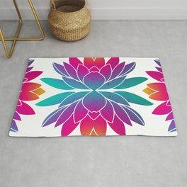 Vibrant Lotus Flower -  Joyful Pattern Rug