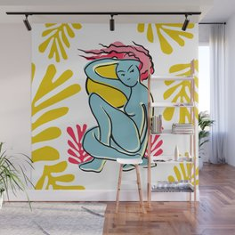 """Woman Spring Outdoors"" Wall Mural"