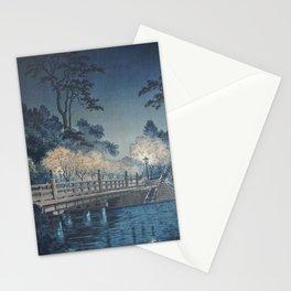 1935 Tsuchiya Koitsu Japanese Woodblock Print Benkei Bridge Stationery Cards