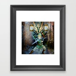 Legend Of Zelda Framed Art Print