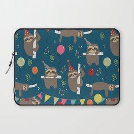 Birthday Sloths Laptop Sleeve