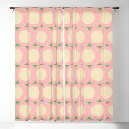 Dots and Triangles Pink  #midcenturymodern Blackout Curtain
