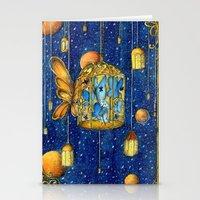 lanterns Stationery Cards featuring Lanterns by Anca Chelaru
