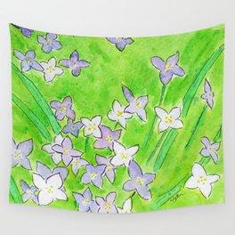 Innocence (Bluets, Quaker-Ladies) Wall Tapestry