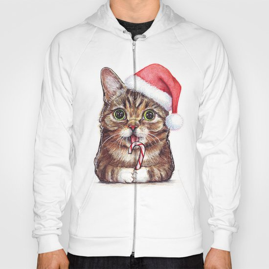 Christmas Animal Santa Cat Hoody