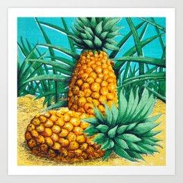 Vintage Queensland Pineapple Art Print
