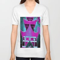 tokyo V-neck T-shirts featuring Tokyo by Brittany Bennett