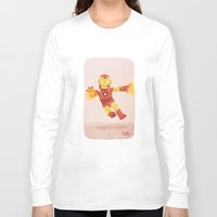 ironman Long Sleeve T-shirts featuring Ironman by Popol