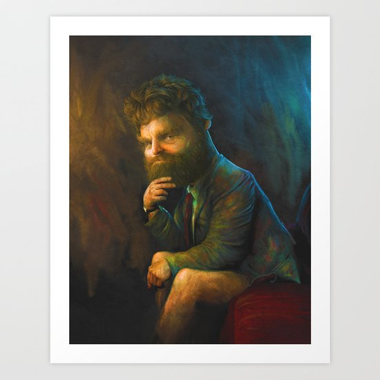 Zach Galifianakis Art Print