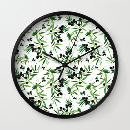 Olive Branch Pattern Wall Clock